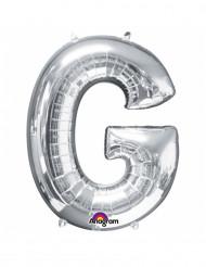 Palloncino alluminio gigante lettera G color argento