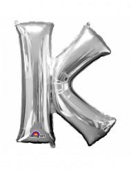 Palloncino alluminio gigante lettera K color argento
