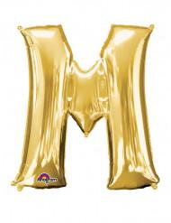 Palloncino in alluminio gigante lettera M dorato