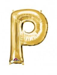 Palloncino di alluminio dorato lettera P gigante