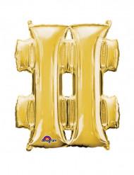 Palloncino alluminio gigante simbolo # dorato