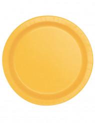 16 Piatti di carta giallo girasole