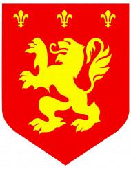 Decorazione blasone medievale rosso