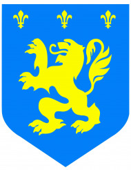 Decorazione blasone medievale blu