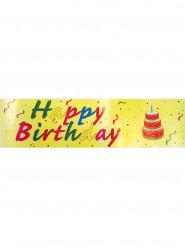 Striscione Happy Birthday sfondo giallo