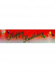 Striscione Happy Birthday sfondo rosso