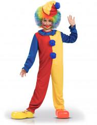 Costume clown bicolore bambino