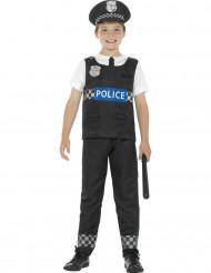 Costume da poliziotto bianco e nero per bambino
