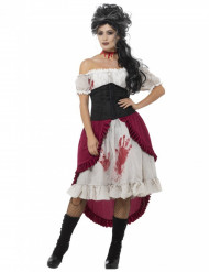 Costume pirata fantasma insanguinato per donna halloween