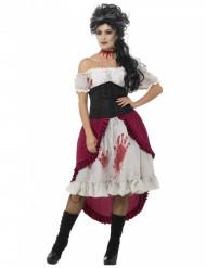 Costume pirata fantasma insanguinato per donna halloween