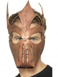 Maschera da gladiatore color bronzo per adulto