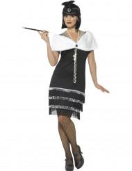 Costume Charleston con stola bianca per donna