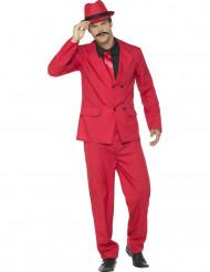 Costume da gangster rosso per uomo