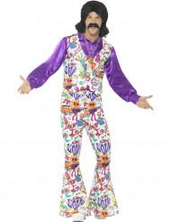 Costume da hippie con gilet per uomo