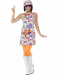 Costume Hippie fantasia multicolore per donna