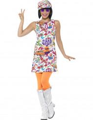 Costume Hippie fantasia multicolore per donna