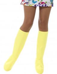 Copristivali gialli per donna