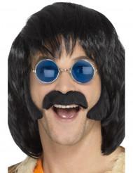 Kit hippie con baffi e basette per uomo