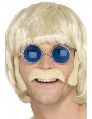 Kit da hippie con baffi e basette per uomo