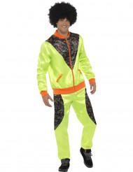 Costume da jogging retrò verde per uomo