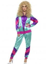 Costume tuta da ginnastica Anni '80 per donna