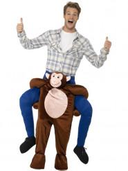 Costume da uomo a cavallo di una scimmia per adulto