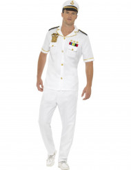 Costume da capitano bianco per uomo