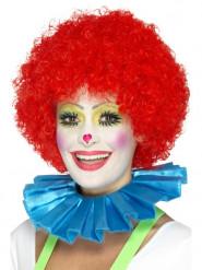 Colletto da clown azzurro per adulto