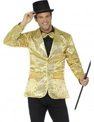 Giacca disco oro a paillettes lusso da uomo