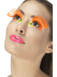 Ciglia finte lunghe arancioni con pois adulto
