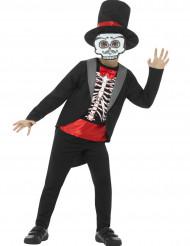 Costume gentiluomo scheletro bambino halloween