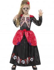 Costume da principessa delle rose Dia de los Muertos per bambina