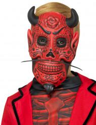 Maschera diavolo bambino festa dei morti messicana per halloween