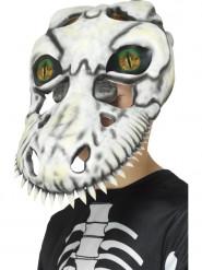 Maschera teschio di tirannosauro con occhio olografico bambino halloween
