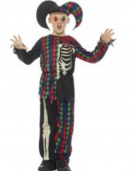 Costume da giullare scheletro per bambino halloween