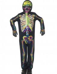 Costume da scheletro fosforescente per bambino Halloween