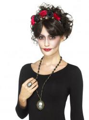 Collana e anello con scheletro per adulto Halloween