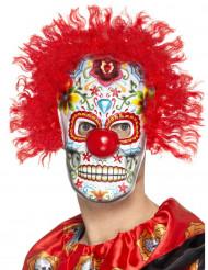 Maschera pagliaccio Dia de los Muertos