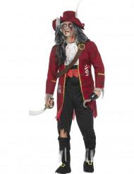 Costume da capitano di vascello zombie deluxe per uomo