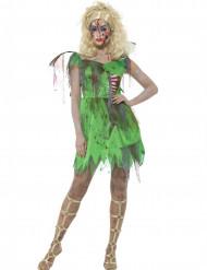 Costume da fata verde zombie per donna halloween