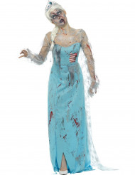 Costume da regina dei ghiacci zombie per donna halloween