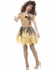 Costume principessa dorata zombie per donna halloween