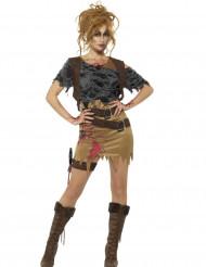 Costume cacciatore di zombie donna Halloween