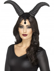 Corna da regina demoniaca donna halloween