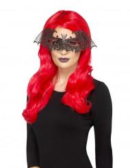 Maschera da pipistrello in metallo per donna