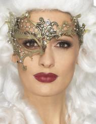 Maschera di metallo dorato per donna