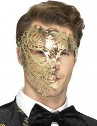 Semi maschera dorata per uomo.