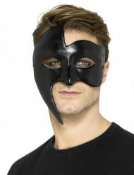 Maschera nera fantasma gotico adulto