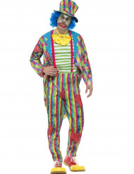 Costume da clown patchwork per uomo