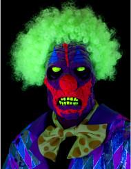 Maschera clown terrificante effetto UV